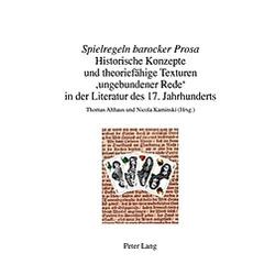 Spielregeln barocker Prosa - Buch