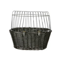 TRIXIE Tierfahrradkorb Gitter schwarz