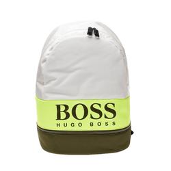 Boss Rucksack HUGO BOSS Pixel ST Rucksack stylische Freizeit-Tasche für Sie und Ihn Sport-Tasche Weiß/Grün