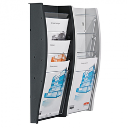 Wand-plastikhalter für broschüren, 5x a5, grau