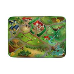 Kinderteppich Ultrasoft Spielteppich Bauernhof, ACHOKA® grün