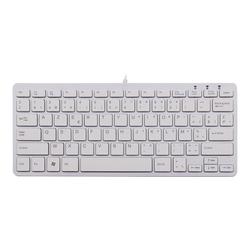 R-Go Compact Tastatur, AZERTY (BE), weiß, drahtgebundenen