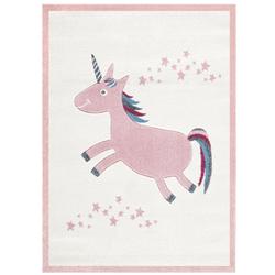 Livone Kinderteppich Happy Rugs EINHORN rosa 120x180 cm