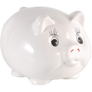 Spardosen, Keramik Sparschwein Münze Banknote Desktop Dekoration Mädchen Junge Kindergeschenke Große Kapazität Sparschwein TINGTING (Color : White, Size : Advisable Packaging)