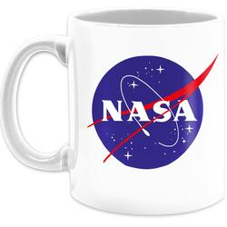 Shirtracer Tasse Nasa Meatball Logo - Statement Tasse - Tasse zweifarbig, Keramik