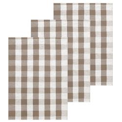 Lashuma Handtuch Set (Set, 3-tlg), Geschirrtücher Halbleinen, Küchentücher 50x70 cm beige