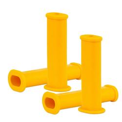 BigDean Schubkarre 4x Schubkarrengriffe Oval 35mm Kunststoff Karrengriff Schiebkarre Sackkarre gelb
