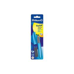 Pelikan Tintenroller Tintenroller Twist R457 Frosted Blue, inkl. 2 blau