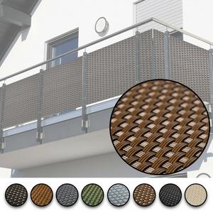 Balkonsichtschutz Rattan Balkonbespannung Zaunsichtblende Geländerschutz