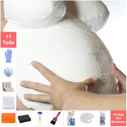Purbay Premium Babybauch Gipsabdruck Set MAXIMUM
