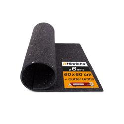 Hinrichs Antirutschmatte Antivibrationsmatte 60 x 60 cm, für Waschmaschinen - plus Cuttermesser