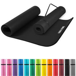 Yogamatte Schwarz 190 x 100 x 1,5cm