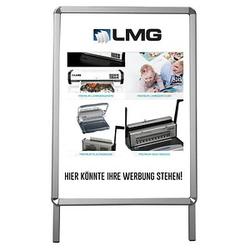 LMG Kundenstopper silber DIN A1 2 Fächer