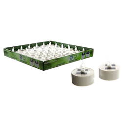 CEPEWA LED-Kerze Solar LED Teelicht Ø5,5cm - kleine Flackerkerze so