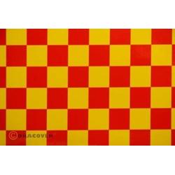 Oracover 47-033-023-002 Klebefolie Orastick Fun 3 (L x B) 2m x 60cm Gelb, Rot