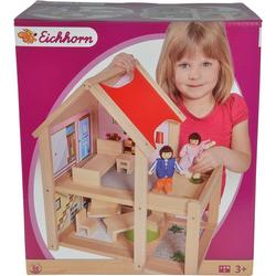 Eichhorn Puppenhaus, (9-tlg), mit Einrichtung und Spielfiguren; Made in Europe