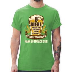 Shirtracer T-Shirt 8 Biere decken den Tagesbedarf an Vitamin C - Herren Premium T-Shirt XXL