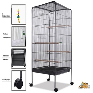 MYPETS Vogelkäfig Vogelvoliere GALACTIC CAGE XXL Vogelkäfig Vogelhaus Papageienkäfig Käfig Voliere