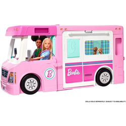 Mattel® Spielzeug-Bus Barbie 3-in-1 Super Abenteuer-Camper