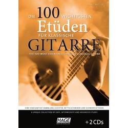 Die 100 wichtigsten Etueden für klassische Gitarre