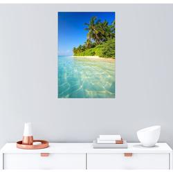 Posterlounge Wandbild, Traumstrand auf den Malediven 20 cm x 30 cm