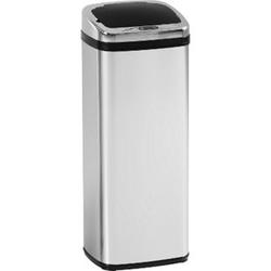 HOMCOM Automatik Mülleimer mit IR Sensor silber 33 x 25 x 84 cm (LxBxH)   Abfalleimer Kücheneimer Abfallsammler Müll Abfall