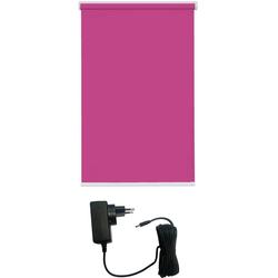 Elektrisches Rollo Akkurollo appgesteuert, verdunkelnd, Sunlines, weißer Fallstab, sunlines, verdunkelnd, ohne Bohren, Rollo mit Ladekabel rosa 120 cm x 180 cm
