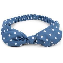 styleBREAKER Haarband Haarband mit Punkte Muster und Schleife, 1-tlg., Haarband mit Punkte Muster und Schleife blau