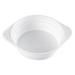 Suppenterrine Suppenteller 500ml, PP, 11 gr, Mikrowellentauglich, weiß, 100 Stk.