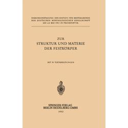 Zur Struktur und Materie der Festkörper als Buch von H. O'Daniel