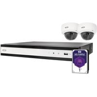 ABUS IP-Überwachungsset TVVR36420D 4-Kanal mit 2 Kameras