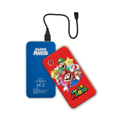 Lexibook® Super Mario 10.000 mAh Wireless Power Bank USB-Ladegerät