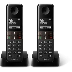 Philips Telefono Duo D4701 Negro