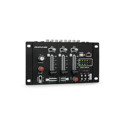 Auna DJ-21 DJ-Mixer Mischpult USB Party-Lautsprecher