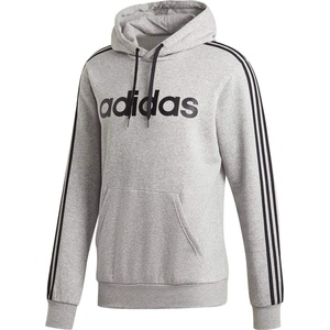 adidas Herren Hoodie Essentials 3-Streifen, M Grey Heather/Black, 2XL, DU0495