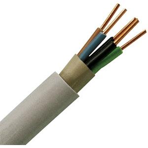 Kopp 153205844 Mantel-Leitung NYM-J, 5 x 2.5 mm2, 5 m, grau