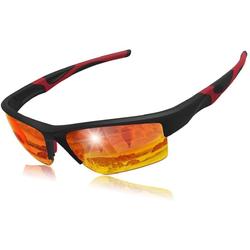 Elegear Fahrradbrille, (1-St., 1x Brillenetui, 1x Glasreinigungstuch, 1x Gebrauchsanweisung, 1x Elegear Sonnenbrille), Elegear Sportbrille Verspiegelte Fahrradbrille, Professionelle Sportbrille für Herren und Damen, Radbrille mit UV400 Schutz und TR90 Rahmen, Sportsonnenbrille Sonnenbrille zum Radfahren, Laufen