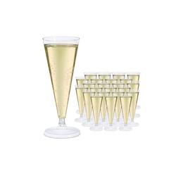 relaxdays Sektglas Sektgläser Plastik im 24er Set