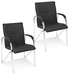 2 NOWY STYL Samba Besucherstühle schwarz Leder