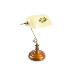 relaxdays Schreibtischlampe Bankerlampe SHABBY gelb