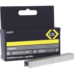 C.K. Tackerklammern 1000 St. 496003 Klammern-Typ 140 Abmessungen (L x B) 10mm x 10.5mm