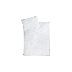 Bettwäsche Herz in mint/weiß, 100 x 135 cm