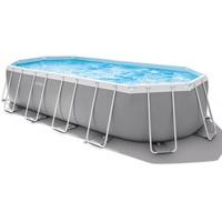 Intex Prism Frame Oval Pool Set 610 x 122 cm inkl. Kartuschenfilter