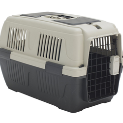 Dehner Tiertransportbox Transportbox Dino für Hund/Katze, 63 x 41 x 40 cm