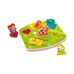 Hape Steckpuzzle Bauernhof-Geräusche-Puzzle, Puzzleteile