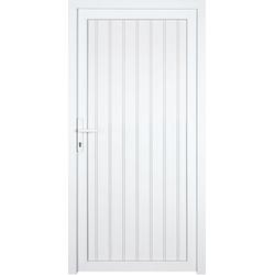 KM Zaun Nebeneingangstür K608P, BxH: 98x198 cm, weiß, links