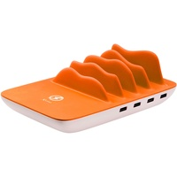 XLayer Family Charger Maxi 4-Port USB + Wireless (Orange, Weiß