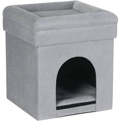 Woltu Sitzhocker, Sitzhocker Katzenhöhle mit Stauraum aus Samt grau