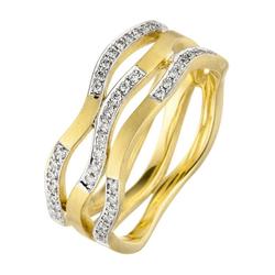 JOBO Diamantring, 585 Gold mit 42 Diamanten 56