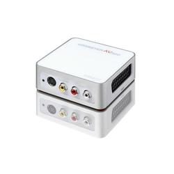 Terratec AV 350 MX Digitales Aufnahmegerät (externe USB Videoschnittkarte, MAGIX Video easy Videobearbeitungsoftware / Videoschnittprogramm, Computer, PC, Notebook, analoge Videos digitalisieren, Scart, S-VHS Anschluss, inkl. Videokabel, wei)